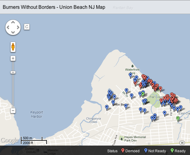 BWB - Mapping Union Beach with BatchGeo